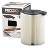 RIDGID Standard Pleated Paper Vacuum Filter, For 5- to 20gal Wet/Dry Vacs