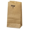 General #1 Paper Grocery Bag, 30lb Kraft, Standard 3 1/2 x 7 3/8 x 6 7/8, 500 bags