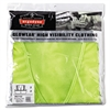 GloWear 8210Z Class 2 Economy Vest, Polyester Mesh, Zipper Closure, Lime, 2L/3XL
