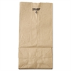 General #4 Paper Grocery Bag, 30lb Kraft, Standard 5 x 3 1/3 x 9 3/4, 500 bags