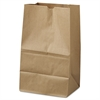 General #20 Squat Paper Grocery Bag, 40lb Kraft, Std 8 1/4 x 5 15/16 x 13 3/8, 500 bags