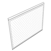 "30""x24"" Peg Board, Tex. Black (np) Paint"