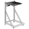 "Mayline 36"" Rolling Stand w/12 Hangers and Clamps"