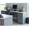 """72""""x24"""" Credenza with two B/B/F Pedestals"""