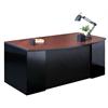 "72""x39"" Bowfront Desk with B/B/F Pedestal"