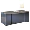 "Mayline 72""x39"" Bowfront Desk with B/B/F Pedestal"