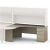 Mayline J Table Left Return with B/B/F Pedestal