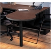 P Table Left Return w/conference end, Black Paint, Crown Cherry Hp Laminate, Black T-mold/Pvc
