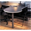 P Table Left Return w/conference end, Medium Tone / Greytone Paint, Windswept Pewter Hp Laminate, Warm Gray T-mold/Pvc