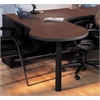 P Table Right Return w/conference end, Black Paint, Crown Cherry Hp Laminate, Black T-mold/Pvc