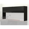 Flipper Door Overhead, Black Paint, Black T/M Mtc Paint, Black T-mold/Pvc