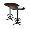 """72"""" Peanut Bar Height Table - Black Base, Anthracite Tf Laminate, Black T-mold/Pvc, Black Paint"""