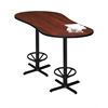 """72"""" Peanut Bar Height Table - Black Base, Regal Mahogany Tf Laminate, Black T-mold/Pvc, Black Paint"""