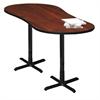 """72"""" Peanut Dining Height Table - Black Base, Regal Mahogany Tf Laminate, Black T-mold/Pvc, Black Paint"""