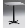 """36"""" Square Bar Height Table - Black Base, Folkstone  Lpl Tf Laminate, Ice Gray T-mold/Pvc, Black Paint"""