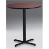 "Mayline 42"" Round Bar Height Table - Black Base"