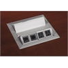 Power and Data Module with 4 Power and 4 Data Outlets (Silver)