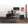 "60"" Desk, Wall Mount Hutch, Open Storage Cabinet, Mobile Pedestal"