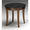 "Midnight End Table, 24""W x 24""D x 22""H, Bourbon Cherry Veneer"