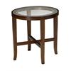 "Illusion End Table, 22"" Dia. x 22""H, Bourbon Cherry Veneer"