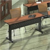 "60""x24"" Rectangular Table, Black Paint, Biltmore Cherry Hp Laminate, Black T-mold/Pvc"