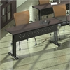 "72""x24"" Rectangular Table, Sand Beige Paint, Witchcraft/Mocha Hp Laminate, Taupe T-mold/Pvc"