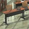 "72""x24"" Rectangular Table, Black Paint, Biltmore Cherry Hp Laminate, Black T-mold/Pvc"