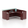 "87-1/4"" Reception Station with Return and (2) Box/Box/File Pedestals"