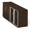 Mayline Low Wall Cabinet with Doors (Wood/Glass Door Combination)