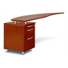 Curved Desk Return With Pencil-Box-File Pedestal (Left)