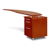 Mayline Curved Desk Return With Pencil-Box-File Pedestal (Right)
