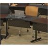 "48""x24"" Transition Adder Table, Black Tf Laminate, Black T-mold/Pvc"