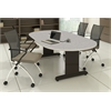 "72""x36"" Racetrack Conference Table w/Premier Leg & Grommets"
