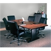 "Mayline 84""x42"" Rectangular Conference Table w/Premier Leg & Grommets"