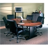 "84""x42"" Racetrack Conference Table w/Premier Leg & Grommets"