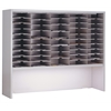 "60""x48"" Elevated Closed Back Sorter - 50 Pockets, Pebble Gray Paint"