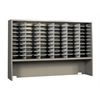 "72""x48"" Elevated Closed Back Sorter - 60 Pockets, Pebble Gray Paint"