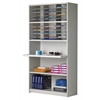 Mail Cabinet, 30 Pockets with Reference Shelf, Pebble Gray Paint