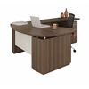 "Mayline ""L"" Shaped Left Handed 66"" Desk System with (1) B/B/F Pedestal, 48"" Right Handed Return Desk with (1) F/F Pedestal"