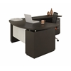 "L Shaped Left Handed 66"" Desk System with (1) B/B/F Pedestal, 48"" Right Handed Return Desk with (1) F/F Pedestal"