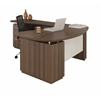 "Mayline ""L"" Shaped Right Handed 72"" Desk System with (1) B/B/F Pedestal, 48"" Left Handed Return Desk with (1) F/F Pedestal"