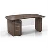 "Mayline 66"" Single Pedestal Left Handed Desk with 1 Box/Box/File Pedestal"