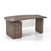 "Mayline 66"" Single Pedestal Left Handed Desk with 1 File/File Pedestal"