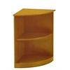 Mayline Bookcases (2 Shelf 1/4 - Round)