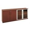 Low Wall Cabinet with Doors (Wood/Glass Door Combination)
