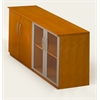 Low Wall Cabinet with Doors (Wood/Glass Door Combination)