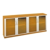 Mayline Low Wall Cabinet with Doors (All Glass Doors)