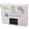 Inteplast Group High-Density Can Liner, 24 x 24, 10gal, 6mic, Black, 50/Roll, 20 Rolls/Carton