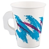 Jazz Paper Hot Cups, Handles, 8oz, Polycoated, 1000/Carton