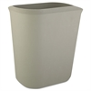 Rubbermaid Commercial Fire-Resistant Wastebasket, Rectangular, Fiberglass, 3.5gal, Gray
